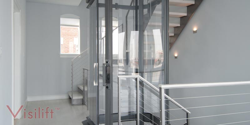 Visilift Octagonal Elevator Octagonal Glass Cable
